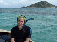 Adam Burke near Lizard Island on the Great Barrier Reef.